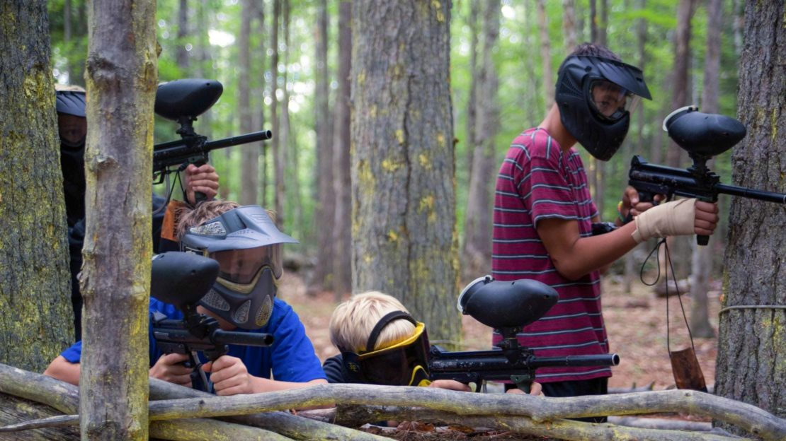 Brookwood boys at paintball