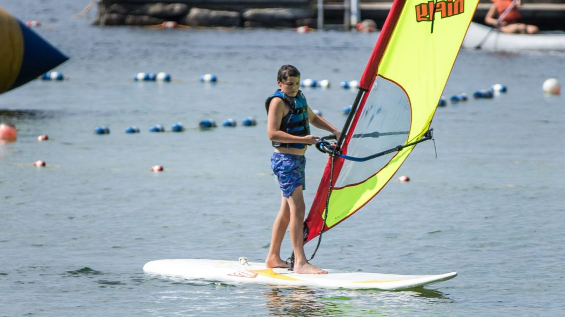 Brookwood boy at windsurfing