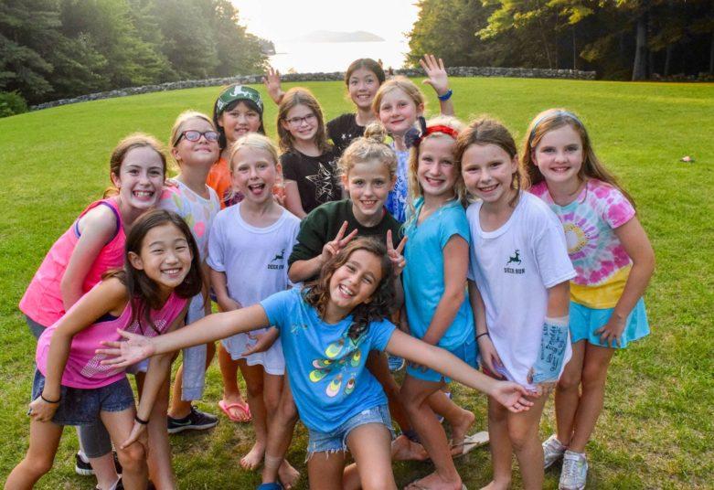 Group of Deer Run campers outside