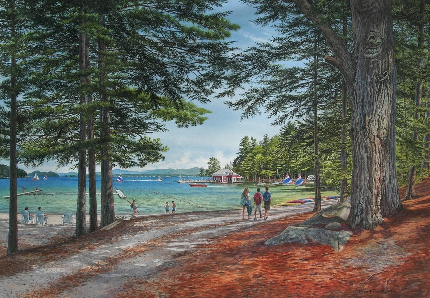 Print of the Brookwoods waterfront