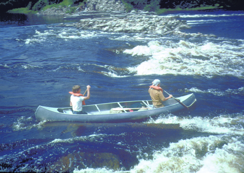 allagash-canoes-with-gear-at-the-dam