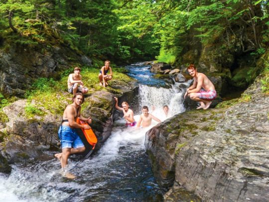 Jacuzzi spot on a trail at Moose River Outpost
