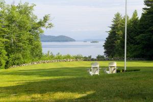 Front lawn and waterfront view